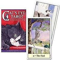 LANG タロットカード ウェイト版【キャッツ・アイ・タロット 日本語解説書付き】タロット占い 猫 ねこ Cat's Eye Tarot [正規品]