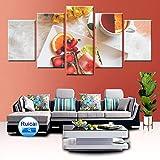 LPHMMD 5 Stück Leinwandmalerei Wandkunst HD Print 5 Panel