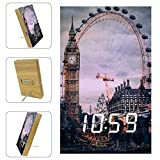 Graduation City London Eye Big Ben Digital Alarm Clock Voice Control with USB Charger Loud...