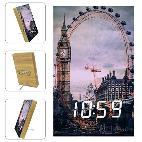 Graduation City London Eye Big Ben Digital Alarm Clock Voice Control with...