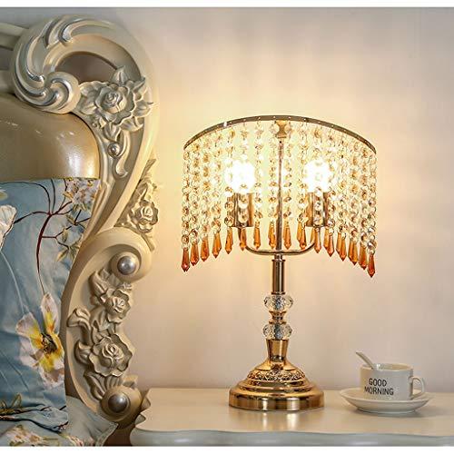 Xwyun modern crystal decoration table lamp, high brightness dual light LED eye saving light,...