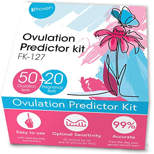 Ovulation Predictor Kit - 50 LH Ovulation Test Strips and 20 HCG Pregnancy Test Strips for Trying to Conceive-at Home Fertility Tracker Kit (OPK) for Women-Accurate and Rapid - Pruebas de embarazo