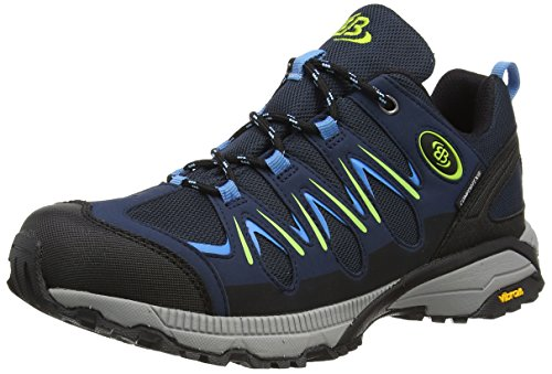 Brütting Expedition Damen Walkingschuhe, Marine/ Blau/ Lemon, 43 EU