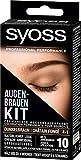 SYOSS Augenbrauen-Kit permanente Augenbrauenfarbe 4-1 Dunkelbraun, natürlicher Look, 1er Pack (1 x...