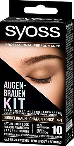 Syoss Augenbrauen-Kit 4-1 Dunkelbraun, 1er Pack (1 x 17 ml)