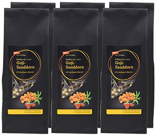tegut... vom Feinsten Goji-Sanddorn loser Tee, 6er Pack (6 x 200 g)