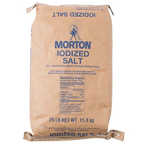 Morton Table Salt, Iodized, 25 Pound