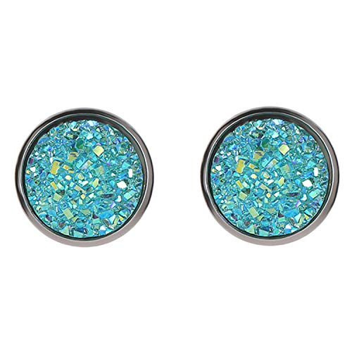 New Vintage Imitation Stone Resin Round Crystal Earring Hypoallergenic Engagement Wedding Earrings,LB