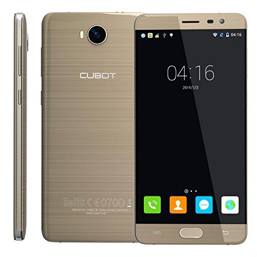 CUBOT Cheetah 2 Smartphone 5.5 Pollici FHD, 3GB RAM+32GB ROM, Octa-Core, Camera 16MP/13MP, Android 6.0, 4G LTE FDD, Sensore dell' Impronta Digitale 0.1s, Type C 2.0, Dual-SIM Oro CUBOT OFFICIALE