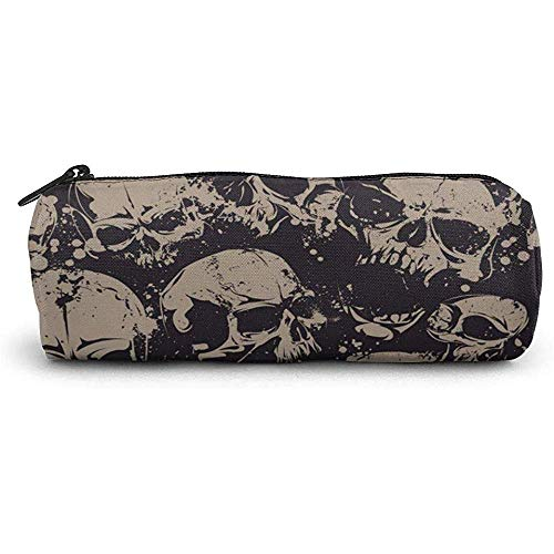 Étui à crayons Cool Retro Skull Graphics School Pen Bag Zipper Cute Makeup Bag Cosmetic Storage Pouch Holder Box Organizer