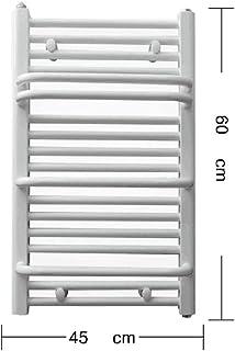 SYN-GUGAI Toallero Eléctrico De Pared,Radiador Toallero De Baño ,Radiador Secador De Toallas,400W,Acero Bajo En Carbono,60x45cm