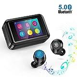 Auriculares inalámbricos Bluetooth 5.0 con Reproductor de MP3 multifunción, Pantalla táctil LCD de 2.0', Auriculares estéreo HD Bluetooth con micrófono Impermeable IPX7 para Android, iOS