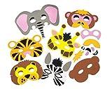 Baker Ross Bastelset für Masken aus Schaumstoff - Tiere des Dschungels - für Kinder ideal zum...