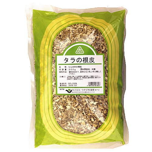 〔ウチダ和漢薬〕タラの根皮 刻 500g 《健康食品》タラの根皮、たらのこんぴ