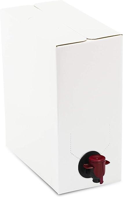 Bag in Box. Bolsa vacía y caja para envasar líquidos: aceite, vino, zumo.(5 UNIDADES) (3 Litros, plástico): Amazon.es: Hogar