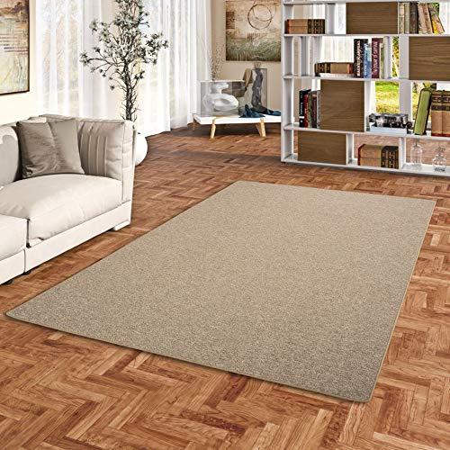 STRONG Feinschlingen Velour Teppich Nougat in 24 Größen