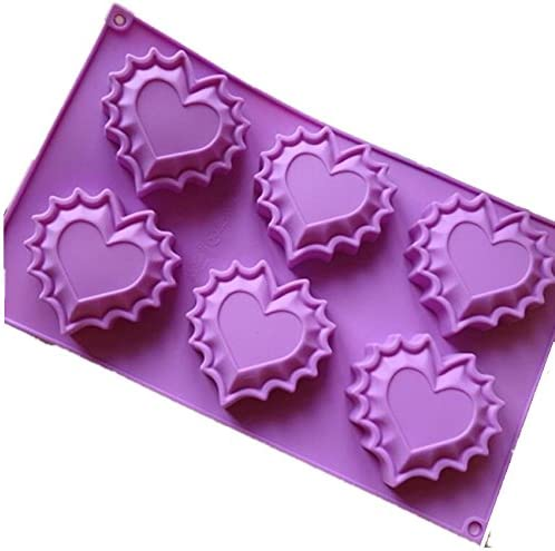 Allforhome 6 heart Silicone Cake Cup Muffin In a popularity Mold Baking Special Campaign Pan