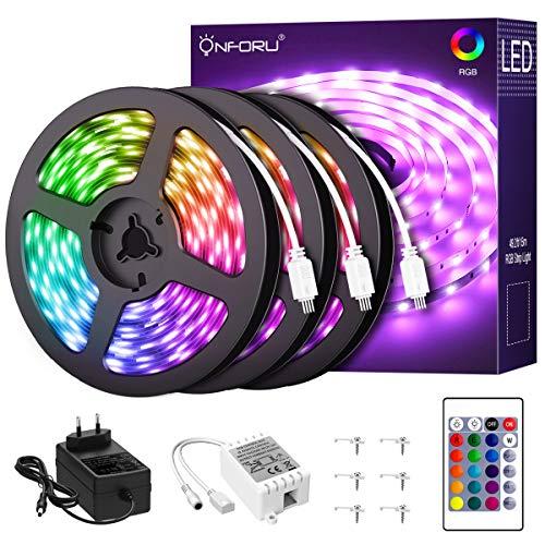 Onforu 50ft RGB LED Strip Lights Kit, 15m Flexible Color Changing Lights Strip,...