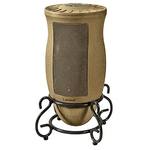 Lasko Designer Series Ceramic Space Heater-Features Oscillation, Remote, and Built-in Timer, Beige Ceramic Heater Space
