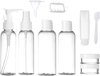 Travel Toiletry Bottles Leakproof, Portable Refillable Travel-size Containers with TSA Clear Travel bag for Carry-on