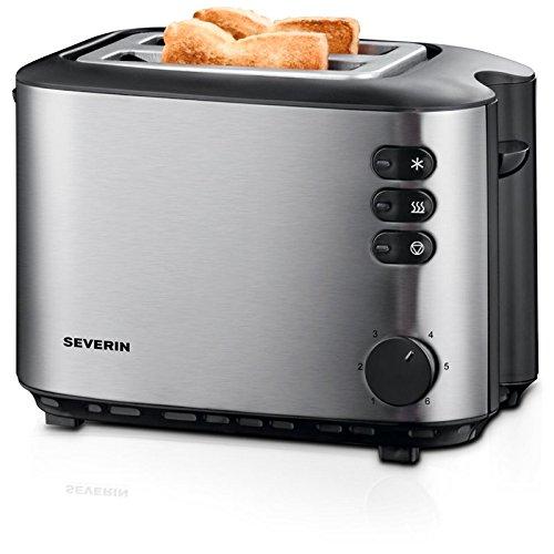 Severin AT 2514 Edelstahl 2-Scheiben-Toaster, Brotscheibenzentrierung