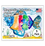 Magtech 08115 Magnetic Picture Frame Magnetic Multi-Use Pocket, 5 Pack