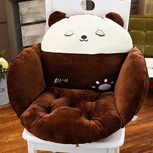 JYHS Cojín de asiento suave y grueso, cojín siamés, cojín de asiento de oficina, agradable al tacto, para el hogar, estudiantes, sofá, amortiguador, multicolor, marrón oscuro, 50 x 40 x 38 cm, cómodo