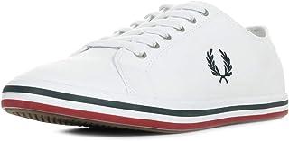 Fred Perry Men's Sneakers, 45 EU, White, B7259