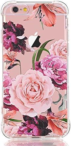 Luolnh Iphone 5 Hülle Iphone 5s Hülle Mit Blumen Stoßfest Mit Durchsichtigem Blumen Muster Weich Flexibel Tpu Elektronik