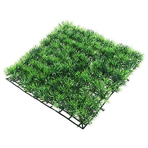 UEETEK Fish Tank Square Artificial Grass Lawn Aquarium Fake Grass Mat for Decoration