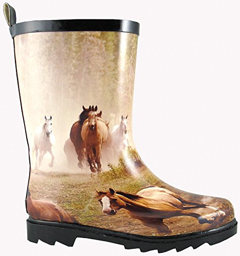 Smoky+Children%27s+Kid%27s+Rubber+Boot+With+Horse+Print