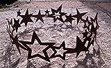 Dekostüberl Edelrost Sternenring D40cm, inkl. Herzle 8x6cm Weihnachten Advent Tischdeko