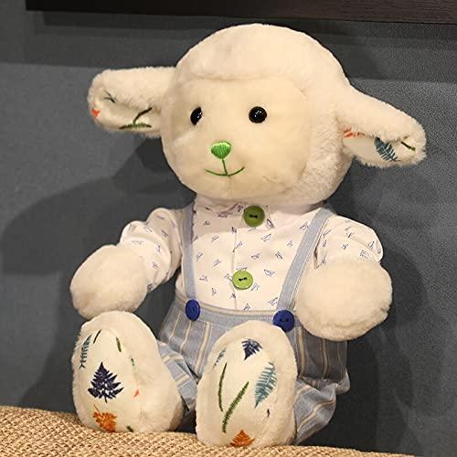 Muñeca Kawaii Suave Pareja de Peluche de Oveja de Juguete Gran Almohada para abrazar Lindas muñecas de Alpaca Juguetes de Animales de Peluche niños Regalo para niños 30CM F