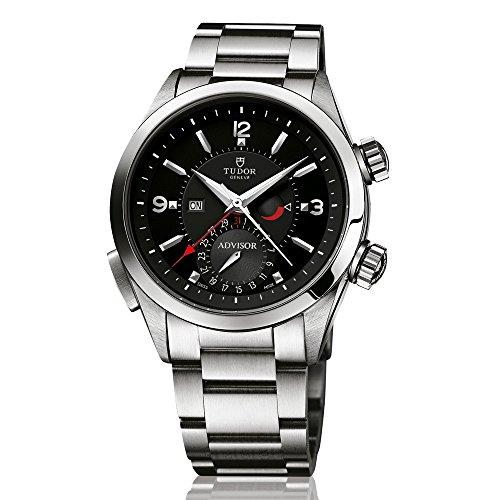 Asesor de Tudor Patrimonio Negro Dial Acero Inoxidable Acero Mens Reloj 79620tn-95740