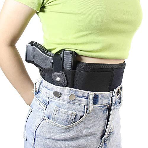 N \ A Funda para Pistola con Banda para el Vientre para Transporte Oculto, Compatible con Glock, Smith & Wesson, Taurus, Colt, Kimber, Beretta, Kahr, FN, Ruger, etc, cómoda Funda Transpirable, Unisex