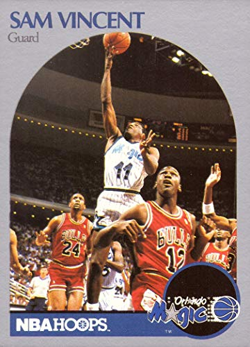 1990-91 NBA Hoops #223 Sam Vincent Basketball Card - Only Michael Jordan Card in a #12 Chicago Bulls Jersey
