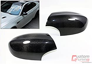 Cuztom Tuning Real Carbon Fiber Side Mirror Cover Caps Fits for 2007-2013 BMW E90/E92/E93 M3 Coupe & Sedan Pair