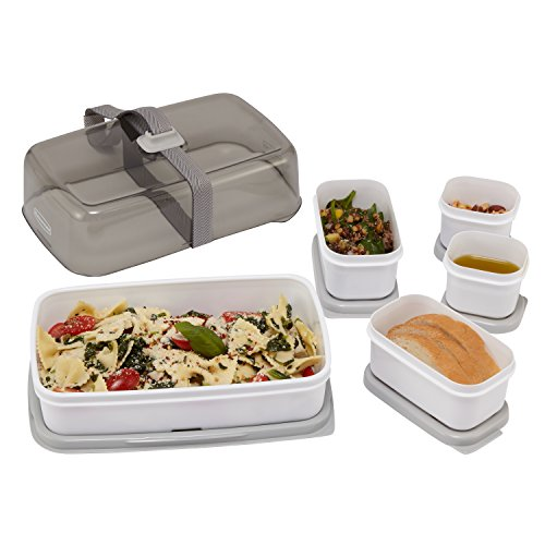 Rubbermaid Fasten + Go Entree Kit, Smoke Gray, 5-Piece Set 1946063