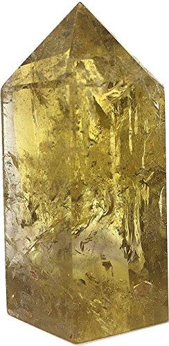 Yinglai 40g Natural Yellow Citrine Quartz Crystal Rainbow Smokey Citrine Tower Point Wand Healing As Gifts
