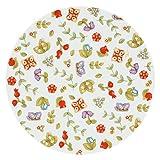 THUN ® - Piatto Ovale Country Multiuso Grande con Fiori - Porcellana - Ø 30 cm