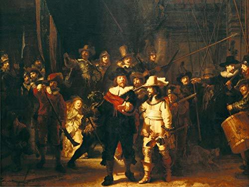 Nachttour Rembrandt Puzzel Beroemde schilderijen Volwassen 1000 puzzels, familiepuzzels, houten puzzels, educatieve spellen, intellectuele uitdagingspuzzels, uitdagingsspellen