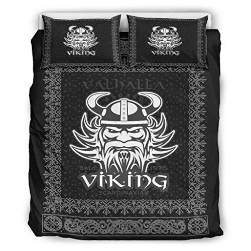 Twelve constellations Edredón vikingo suave y ligero para todo el año - Juego de cama vikingo de 3 piezas para Home Lodge White 264 x 229 cm