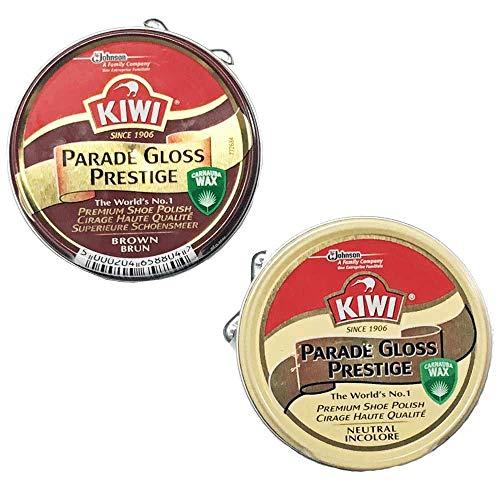 KIWI 油性靴クリーム パレードグロス 2個セット 茶と無色