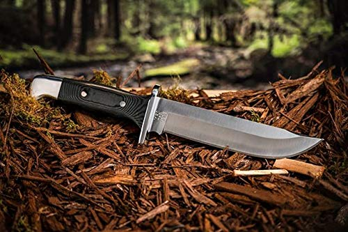 Buck Knives 124 Frontiersman Fixed Blade Knife with Leather Sheath