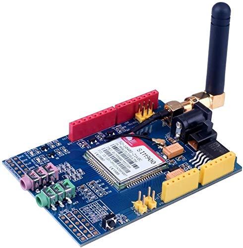 DollaTek SIMCOM SIM900 GPRS gsm Módulos de Banda cuádruple 2G Desarrollo Shield Board para Arduino UNO R3 Mega con Antena y Adaptador Nano Sim