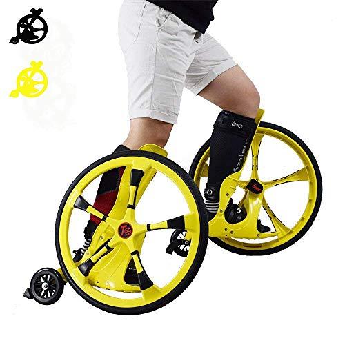 L.HPT Indoor-Speed Roller Skates, Kid es Roller Skates mit Big Wheel Adapt Lawn Gravel Road Rugged Land Wheel