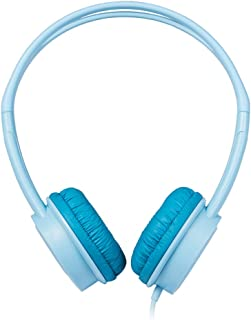 ONIKUMA M100 Kids Headphones 3.5mm Wired On Ear Headset Children Earphone Adjustable Headband w/Microphone 85dB Limited Volume Safe for Kids