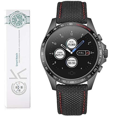 Smart Watch, 9 modalità sport Smartwatch, IP67 impermeabile Fitness e Activity Tracker con GPS integrato, cardiofrequenzimetro Sleep Monitor Medicina Chiamate SMS Promemoria- Nero