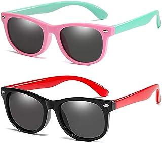 نظارات شمسية مستقطبة للأطفال مصنوعة من المطاط المرن من TPEE للأولاد والبنات سن 3-10 حماية من الأشعة فوق البنفسجية بنسبة 100%