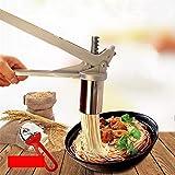 HoJoor Máquina para Hacer Pasta Fresca Prensador Acero Inoxidable Noodle Maker Vegetal Puré de Papas Fruta Exprimidor Prensa Fideos de Máquina Herramienta de Cocina (7 x Molde) #3